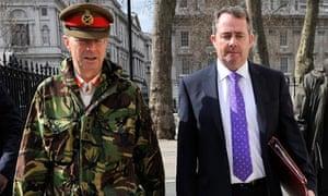 General Sir David Richards and Liam Fox