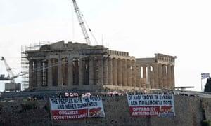 Acropolis protest