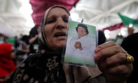 Gaddafi supporters in Tripoli
