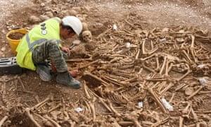 Decapitated Saxon skeletons