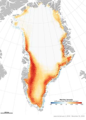 2010 extreme weather: Greenland