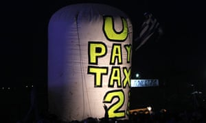 Glastonbury U2 tax protest