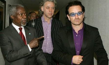 Bono Geldhof Kofi Anan Gleneagles