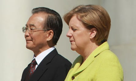 Jiabao and Merkel