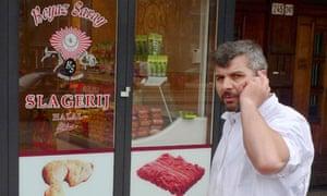 A Halal butchers store
