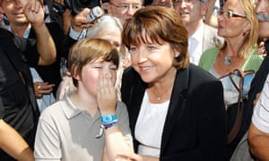 France's Socialist leader Martine Aubry