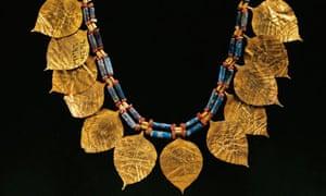 A Sumerian lapis lazuli wreath from Ur, Iraq