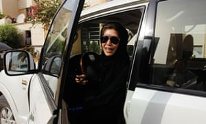 One of the women taking part in the campaign to overturn Saudi Arabia's ban on women drivers
