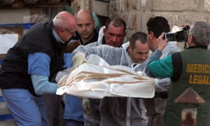 The body of Elisa Claps is removed from a church in Potenza on 18 March 2010