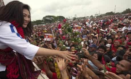 Yingluck Shinawatra Campaigns Ahead Of Thai Elections
