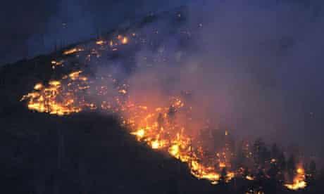 Flames near Los Alamos