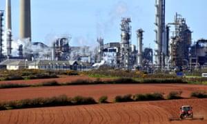 Chevron plant in Pembroke Dock, south-west Wales