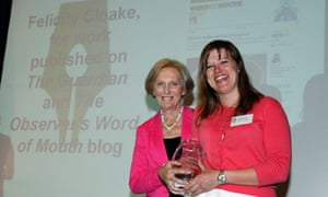 Felicity Cloake recives the award for Food Journalist of the Year