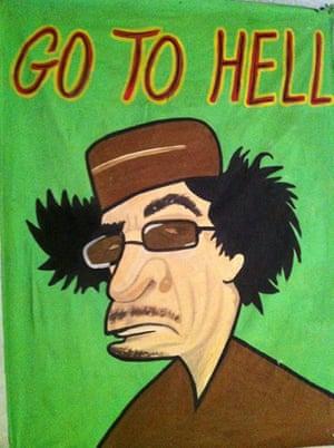 Gaddafi street art: Go to hell