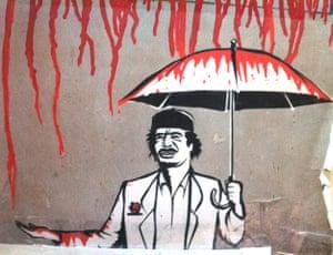 Gaddafi street art: Reign in blood