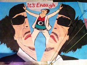 Gaddafi street art: It's enough