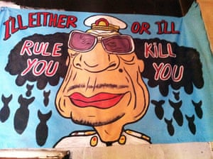 Gaddafi street art: I'll either rule you or I'll kill you
