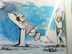 Gaddafi street art: Rocket
