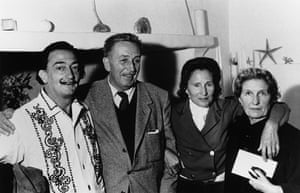 fancy meeting you here: Walt Disney With Dali In 1957