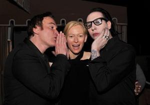 fancy meeting you here: Quentin Tarantino, Tilda Swinton and Marilyn Manson