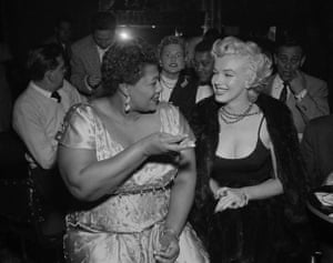 fancy meeting you here: Marilyn Monroe with Ella Fitzgerald