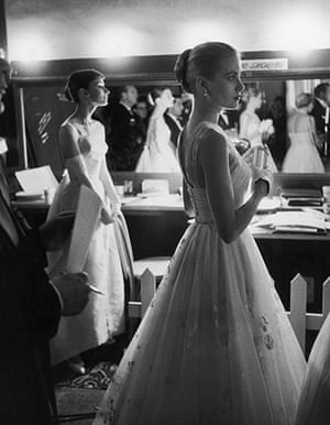 fancy meeting you here: Grace Kelly and Audrey Hepburn