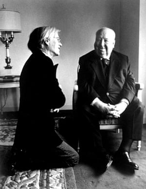 fancy meeting you here: Andy Warhol and Alfred Hitchcock meet in 1976