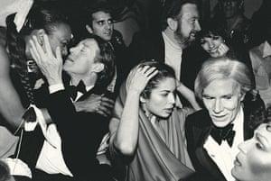 fancy meeting you here 2: Halston, Bianca Jagger, Jack Haley Jr, wife Liza Minnelli, Andy Warhol