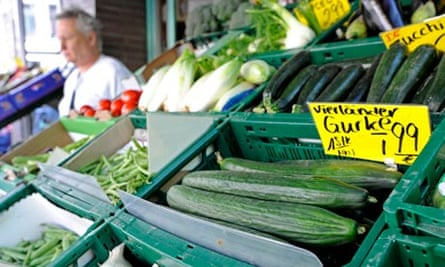 E coli outbreak: Vegetables at a greengrocer's in Hamburg