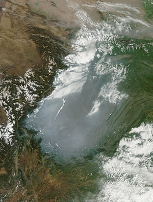 Satelitte Eye on Earth: Haze hovered over China Sichuan Basin