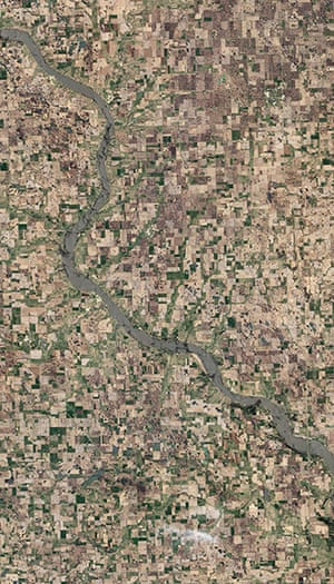 Satelitte Eye on Earth: A tributary of the Missouri River, the James River