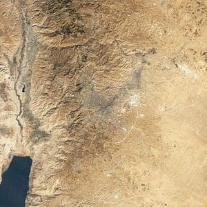 Satelitte Eye on Earth:  Jordan River Valley