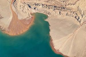 Satelitte Eye on Earth: Ayakum lake on Tibetan Plateau