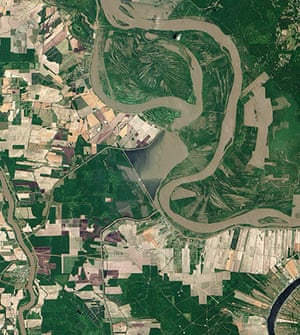 Satelitte Eye on Earth: Army Corps To Open Spillway In Louisiana To Ease Flooding