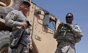 American soldiers in Iraq. Three were killed in a rocket attack blamed on an Iranian-backed militia