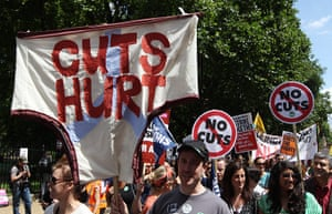 Public sector strikes: Public sector workers take part in a march through central London