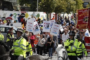 Public sector strikes: Protesters march through Liverpool  as part of a one day national strike
