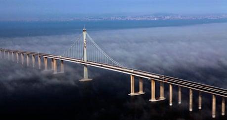 China Opens World 39 S Longest Sea Bridge World News The