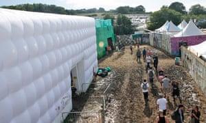 The Decontamination Unit at Glastonbury
