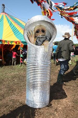 Glastonbury 2011: An alien pays a visit to the kidz field