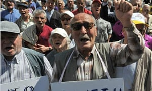 Greek pensioners march