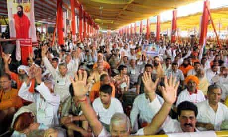 Swami Ramdev's fast in Delhi