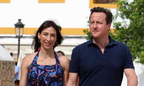 David and Samantha Cameron in Ibiza, May 2011
