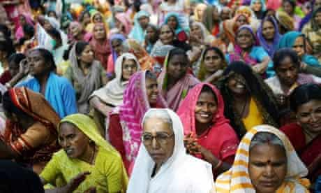 Indian women participate in a rally in New Delhi