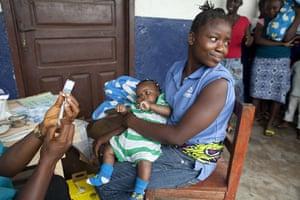 Vaccination: in Garzon, Liberia