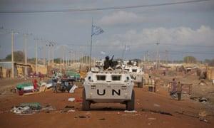 UN patrols in Abyei Sudan, May 2011