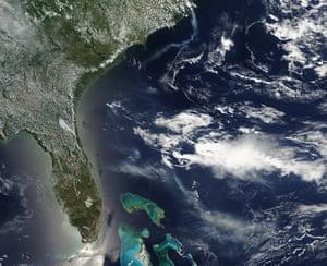 Satellite Eye on Earth: Smoke from the Honey Prairie and Pains Bay fires, Atlantic Ocean
