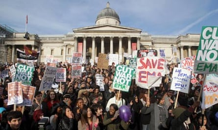 Students protest against tuition fees, London, November 2010