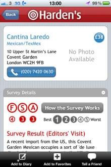 Harden's app screenshot