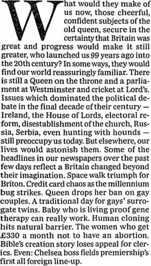The Guardian, 31 December 1999.